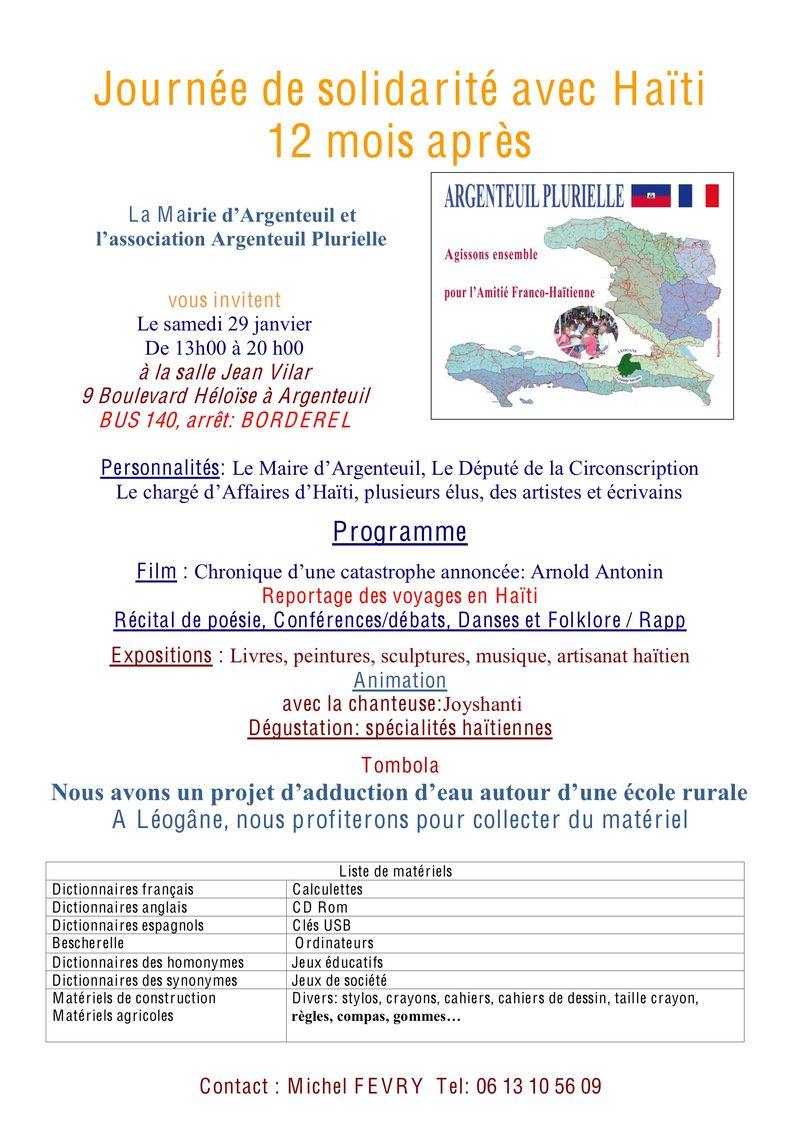 Programme du 29 01 2011