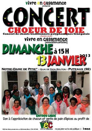 Concert de soutien à l'association Vivre en Casamance  13012013