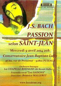 Passion selon St Jean 9 avril Puteaux