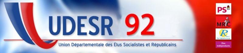 Bandeau avec logo partis UDESR 92
