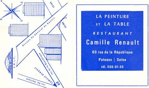 Restaurant de Puteaux : carte.