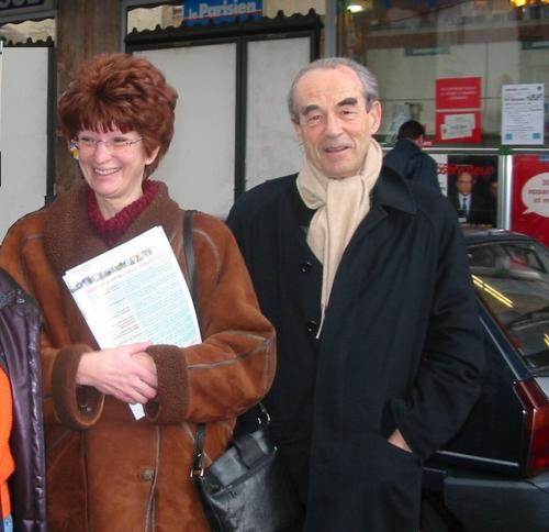 Nadine Jeanne et Robert Badinter : 8 février 2004.