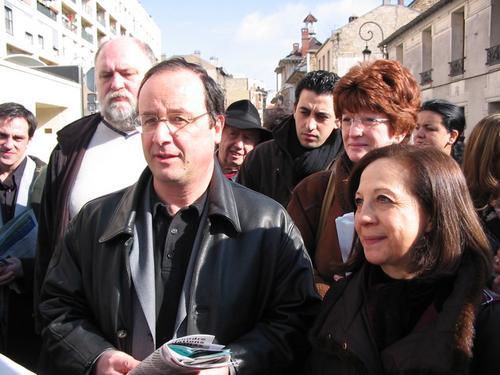 François Hollande, Nadine Jeanne et Elisabeth Gourevitch