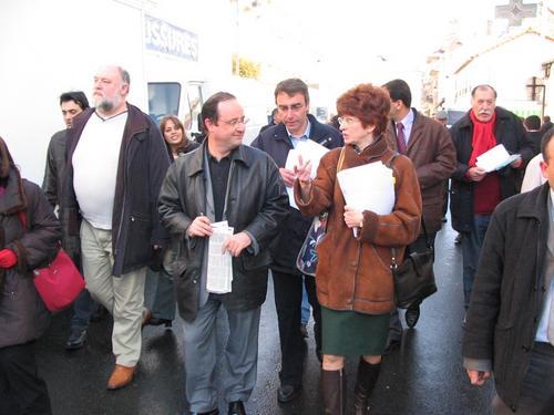 François Hollande, Pascal Buchet et Nadine Jeanne